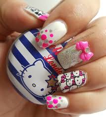 manisha u0027s followmanimatters hello kitty nail art by dhara from