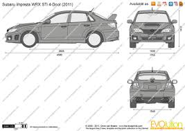 subaru van 2010 the blueprints com vector drawing subaru impreza wrx sti 4 door