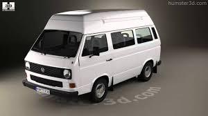 volkswagen models van volkswagen transporter t3 passenger van high roof 1980 3d model