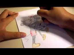 draw mickey minnie mouse