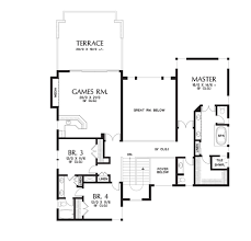 contemporary style house plan 4 beds 4 50 baths 4106 sq ft plan