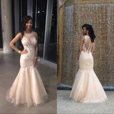 champagne prom dresses mermaid best dressed