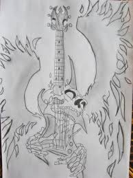 guitar and skull by oleska91 on deviantart