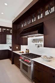 Dark Kitchen Cabinets Light Countertops Kitchen Cabinet White Granite Countertop Double Bowl Sink Light