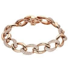 gold link bracelet with diamonds images Diamond pave gold chain link bracelet for sale at 1stdibs jpg