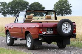 land rover vintage rare 1973 range rover convertible goes to auction