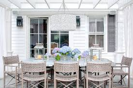 Woven Chairs Dining Pergola Zinc Top Dining Table And Gray Woven Dining Chairs