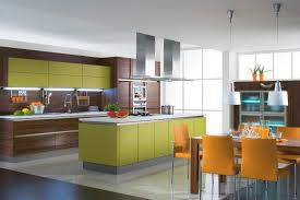 open kitchen ideas open kitchen ideas with green orange color scheme kitchen