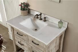 Furniture Amazing Rustic Style Quartz White Marble Top 36 Inch