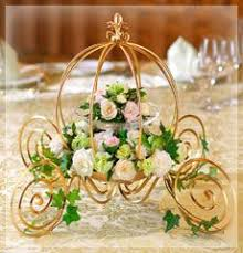 carriage centerpiece flower arrangement in small carriage search wedding