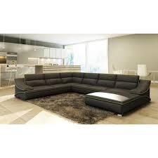 grand canape d angle cuir grand canapé d angle en cuir gris et vert design achat vente