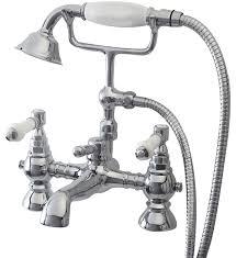 traditional bath taps ryans direct phoenix yolie yo019 bath shower mixer tap handset kit 2th chrome traditional ceramic handles