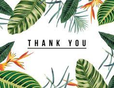 tropical thank you card by daydream prints on postable