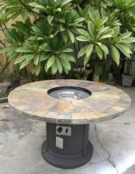 Slate Firepit Outdoor Slate Pit Outdoor Dining Table Propane Firepit San