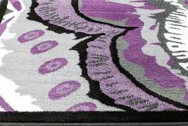 Modern Purple Rugs 01804 Purple Gray Black White 5 2x7 2 Modern Area Rug