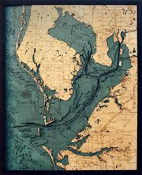 Map Of Tampa Florida Bathymetric Map Tampa Bay Florida Scrimshaw Gallery
