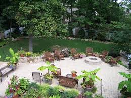 Backyard Landscaping With Fire Pit - garden composing the fire pit ideas cheap shapes of stone design