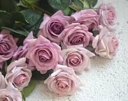 silk roses dusty flower etsy