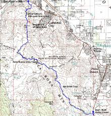 Palm Springs Map On Art Smith Trail To Palm Springs