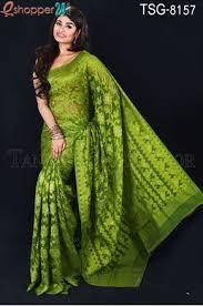 jamdani saree bangladesh tangail moslin silk jamdani saree tsg 8157 online shopping in