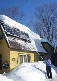 Remove Awning From House Remove Snow From Solar Panels With The Snow Pro Soft Roof Rake