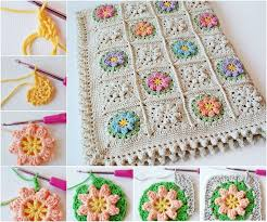 Free Pattern For Crochet Flower - 25 best crochet flower squares ideas on pinterest free crochet