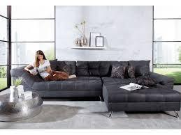 canapé d angle gris d angle matelassé sebastian gris