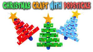 christmas craft with popsticks how to make a christmas tree with