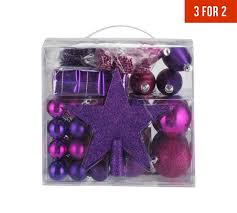 buy pack of 75 christmas decorations pink and purple at argos co