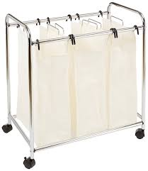 Laundry Divider Hamper by Amazon Com Amazonbasics 3 Bag Laundry Sorter Home U0026 Kitchen