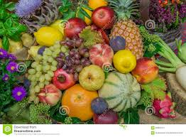 flowers and fruits thanksgiving decoration with fruits and flowers stock image