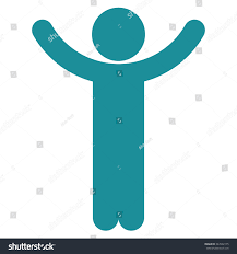 Soft Blue Color Hands Male Person Vector Icon Style Stock Vector 347602175