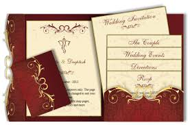 Wedding Invitation Hindu Ganesh Purple Email Wedding Card U2013 Pocket Fold Design 58 U2013 Luxury Indian U0026 Asian