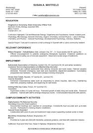 Resume Template No Work Experience Resume Sample For Students With No Work Experience Resume