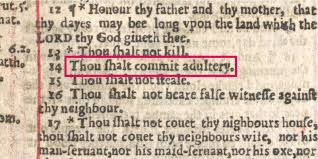 typo in the bible made adultery mandatory reader s digest