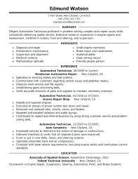 mechanic resume template resume automotive mechanic sle mechanic resume auto templates