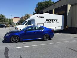 lexus isf drag race new product rrracing penske suspension development for isf