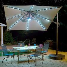 Patio Umbrella Led Lights by Exterior Sunbrella Umbrella With Led Lights Built Into The Ribs