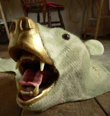 modern polar bear rug made from recycled blankets apartment therapy