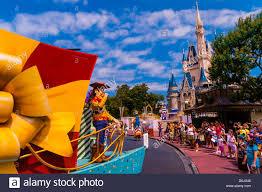 disney characters parade cinderella castle