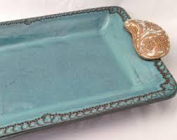 small deviled egg plate deviled egg plate platter in turquoise ceramic stoneware