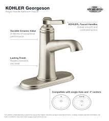 kohler georgeson single hole single handle water saving bathroom