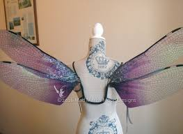 Dragonfly Halloween Costume Gothic Dragonfly Iridescent Large Fairy Wings Size