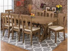 Sunny Designs Vineyard Extension Table by Jofran Slater Mill Pine Reclaimed Pine Trestle Dining Table