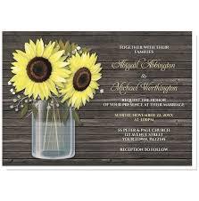 wedding invitations rustic rustic sunflower wood jar wedding invitations online at