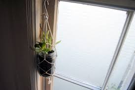 diy learn how to make a knotted string hanging planter from
