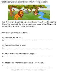 comprehension worksheets for grade 2 worksheets