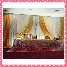 wedding backdrop curtains for sale aliexpress buy hotsale white and gold wedding backdrop