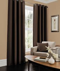 Chocolate Curtains Eyelet Luxury Faux Silk Fully Lined Ready Made Pair Of Eyelet Ring Top