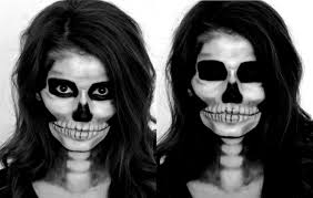 half face halloween makeup ideas skeleton halloween makeup tutorial youtube